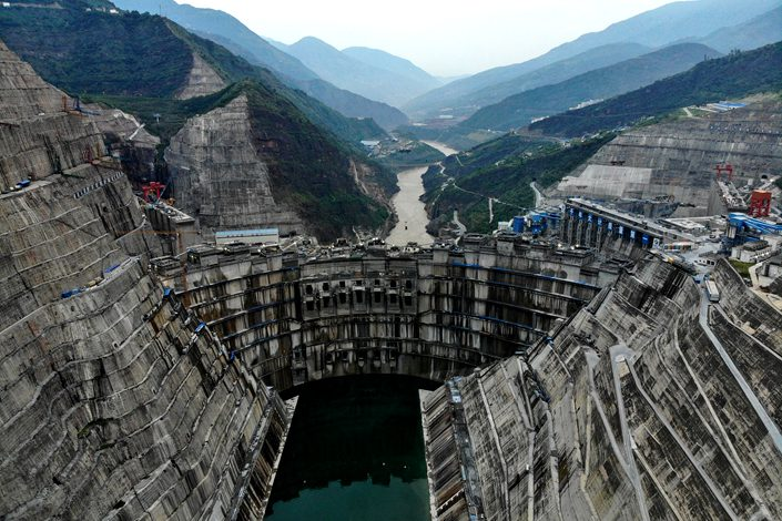 The Baihetan hydropower station, under construction in September in Liangshan, Sichuan province, has a planned generation capacity of 16 gigawatts, which would make it the world's second-largest hydroelectric project after the Three Gorges Dam. Photo: VCG