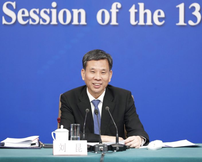 China's Minister of Finance Liu Kun. Photo: Xinhua