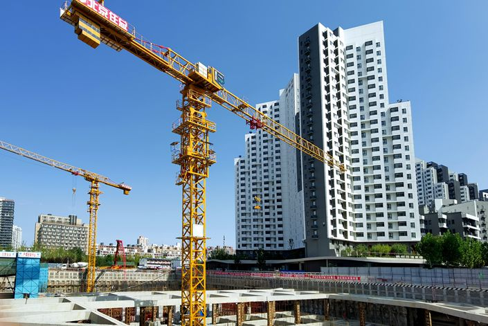 A public rental housing development is under construction in Beijing on Sept. 22. Photo: VCG