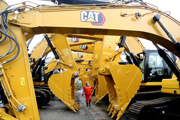 Sales of excavators in China usually pick up one week after the Lunar New Year holiday as projects resume. Photo: VCG