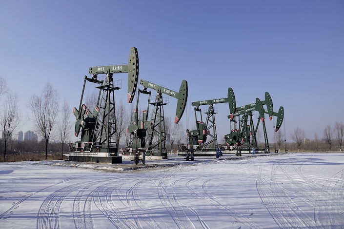 Daqing oil field in northeast China's Heilongjiang province.