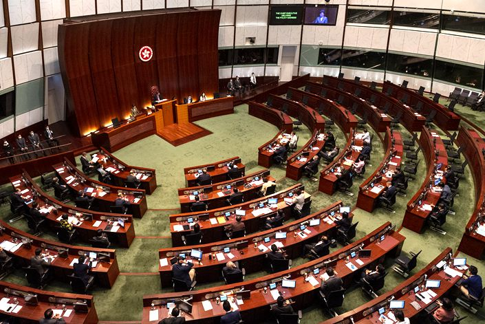 Hong Kong's Chief Executive Carrie Lam told China's national broadcaster that the reform will be completed over next 12 months. Photo: VCG