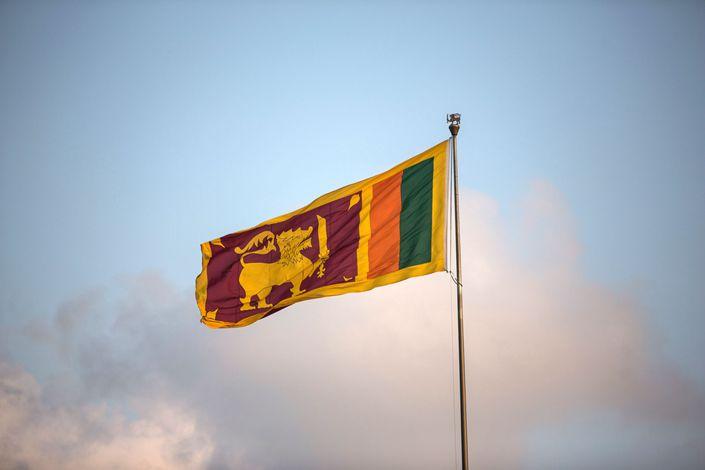 Sri Lankan's national flag. Photo: Bloomberg