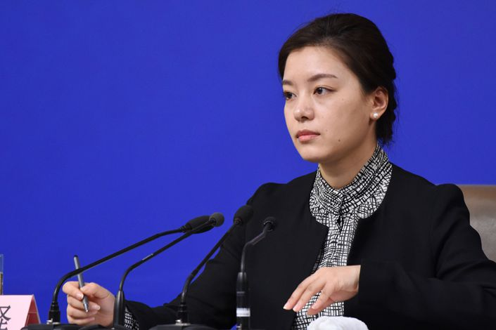 Zhang Jing, an English interpreter for China's foreign ministry. Photo: VCG