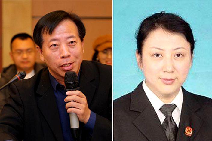 She Guiqing (left) and Guo Yanzhi