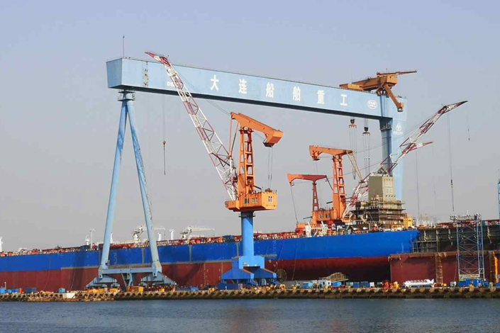 China State Shipbuilding operates a shipyard in the northern port city of Dalian.