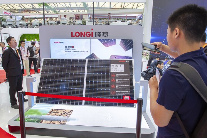 Longi's move reflects a trend of higher integration between new-energy firms and the power storage business including hydrogen, an analyst said. Photo: VCG