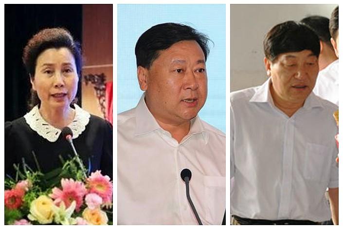 From left:Zhou Lu, Zhang Youbin, Yang Bailu