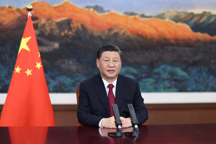 President Xi Jinping delivers a video speech at the opening ceremony of the Boao Forum for Asia Annual Conference in Boao, South China's Hainan province, on April 20. Photo: Xinhua