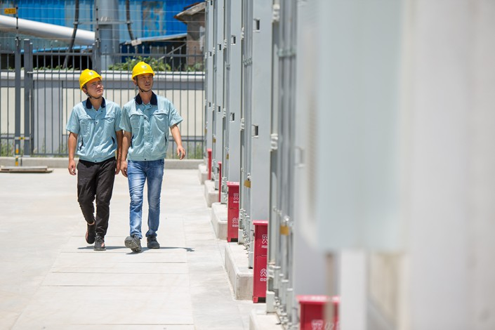 A power storage facility in Zhenjiang, Jiangsu province. Photo: IC Photo
