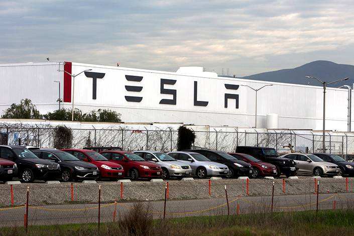 Tesla factory complex in Fremont, California, on Jan. 28. Photo: IC Photo