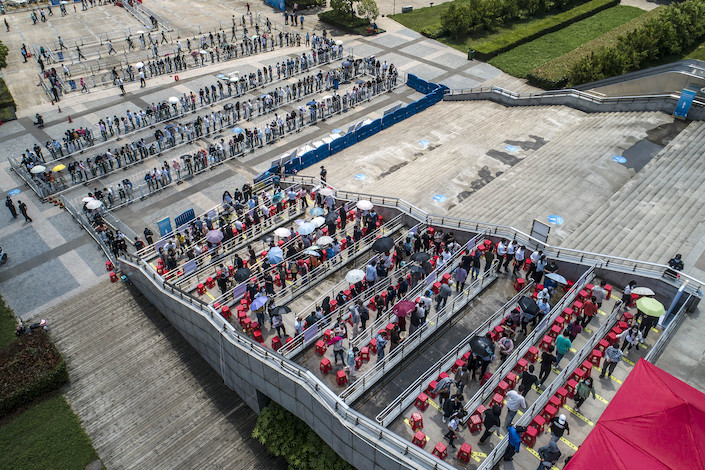 efei, Anhui's capital, administered 360,000 doses Friday, the most in a single day for the hub of 10 million people