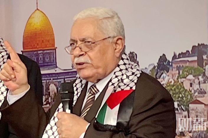 Palestinian Ambassador to China Fariz Mehdawi. Photo: Xu Heqian/Caixin