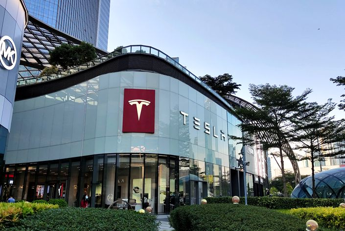 Tesla plans to build data centers across China, with a promise to give car owners access to its vehicle information checking platform. Photo: VCG