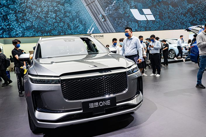 Li Auto's deliveries in the first quarter were 12,579 units, down 13 percent from the previous quarter. Photo: VCG