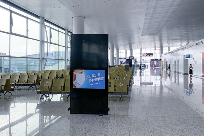 Guangzhou Baiyun International Airport appears empty on Tuesday as the local government updated restrictions to curb the coronavirus outbreak. Photo: IC Photo