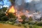 重庆中山古镇失火 大量木结构民居被毁