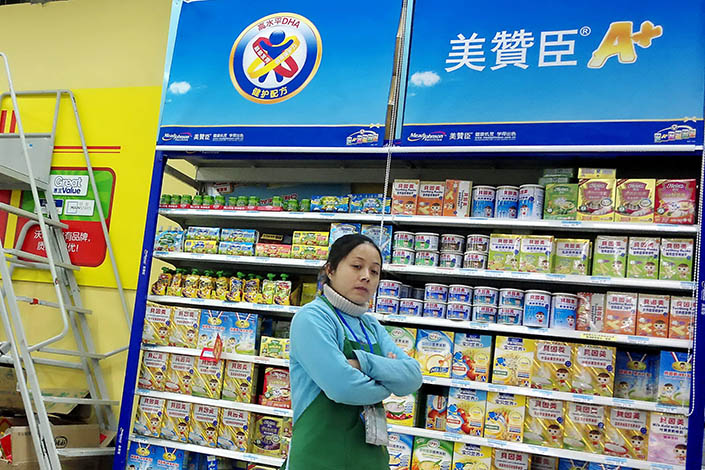 Mead Johnson milk powder on sale at a Shanghai supermarket. Photo: IC Photo