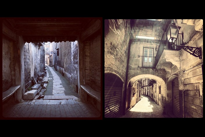 Xishan, East China's Jiangsu province (left), and Modica, Sicily, Italy. Photo: Courtesy of Hisham Youssef