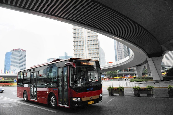The Shanghai government said 96% of buses and taxis on the city's streets will be powered by clean energy by the end of 2025
