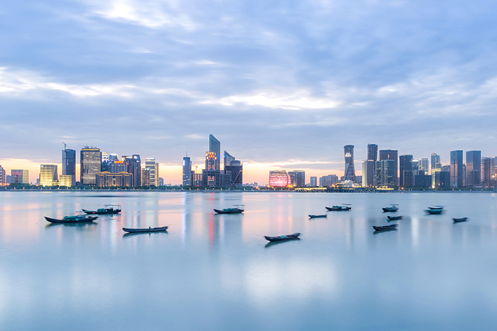 pictureNight view of the Hangzhou on April 12. Photo: VCG