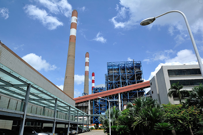 Coal is burned to generate power at the Mawan power plan in Shenzhen, South China's Guangdong province.  Photo: VCG
