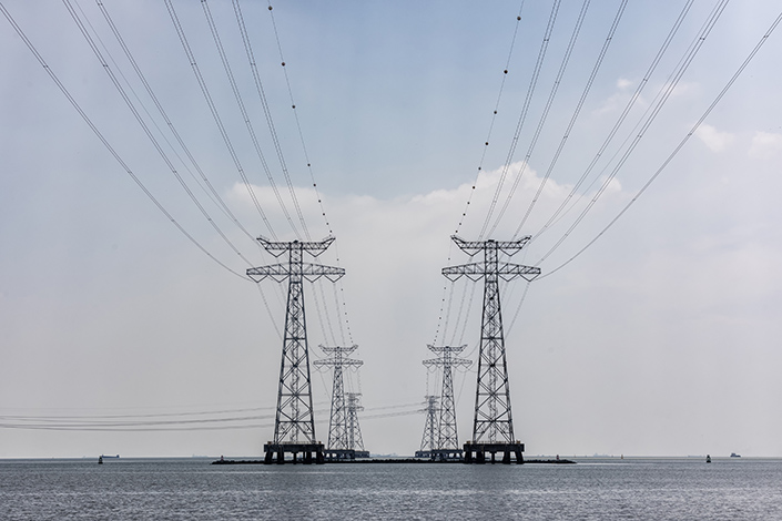 Power lines near Shenzhen, South China's Guangdong province. Photo: VCG