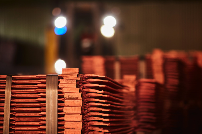 Newly formed copper cathode sheets