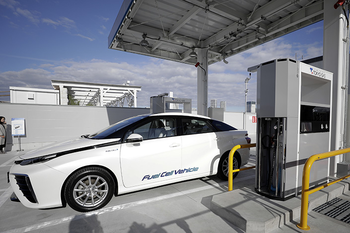 A hydrogen refueling station in Tokyo in January 2020. Photo: VCG