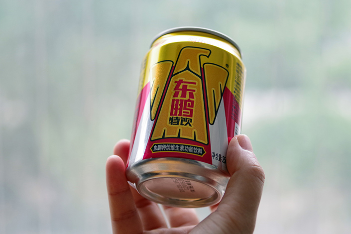Shares of China's No. 2 energy drink maker Eastroc have surged nearly sixfold in the first three weeks since their IPO. Photo: VCG