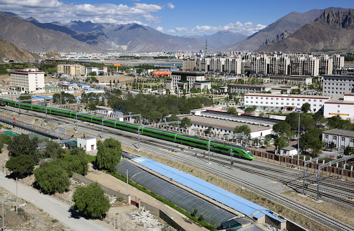 The Fuxing-class bullet train commences operations across the Tibet plateau Friday.