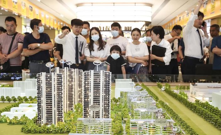 The showroom of a new residential development in Huai'an, Jiangsu province.