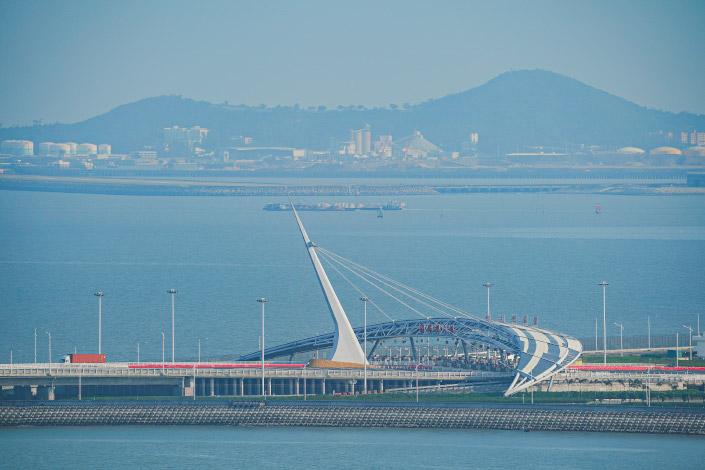 The Hong Kong-Zhuhai-Macao Bridge in Zhuhai, South China's Guangdong province, on April 12. Photo: VCG
