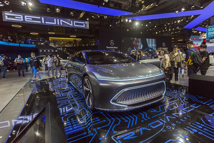 The Radiance concept car developed by BAIC's Beijing marque on display at the Shanghai Auto Show on April 22. Photo: IC Photo