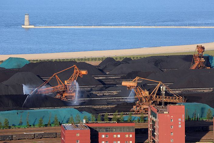 A coal terminal in Rizhao, East China's Shandong province, on March 21. Photo: VCG