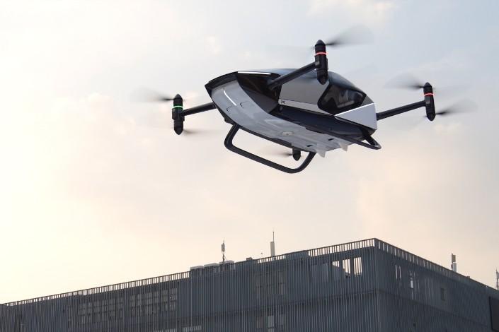 XPeng's Kiwigogo X2 flying car prototype. Photo: XPeng Heitech