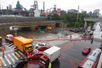 北京西部遇暴雨局地积水塌方 河北多地暴雨洪灾