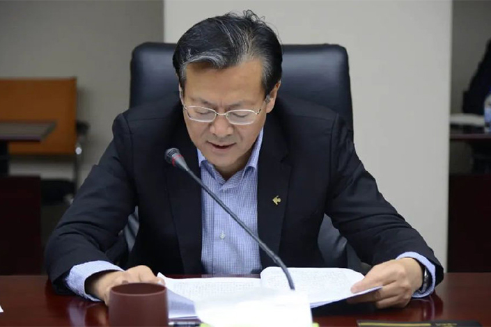 Zhang Tao, party secretary and chairman of China Aerospace Investment Holdings. Photo: VCG