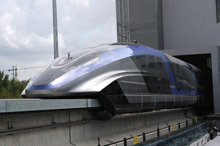 The train could fill a gap by providing speeds faster than the current high-speed rail that runs at up to 350 kph but slower than airplanes. Photo: VCG