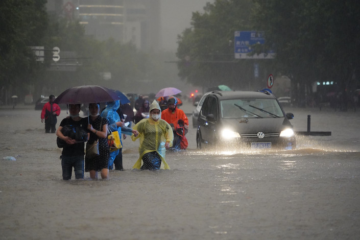 Zhengzhou, the capital of Central China's Henan province located on the banks of the Yellow River, was hit by record-breaking torrential rain.
