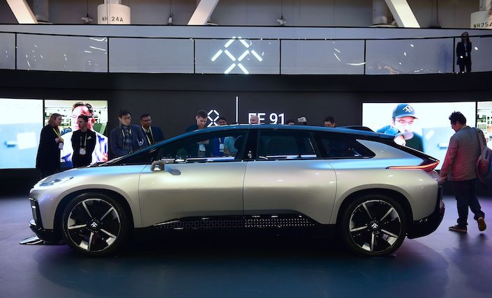 Faraday Future's first model, the FF91.