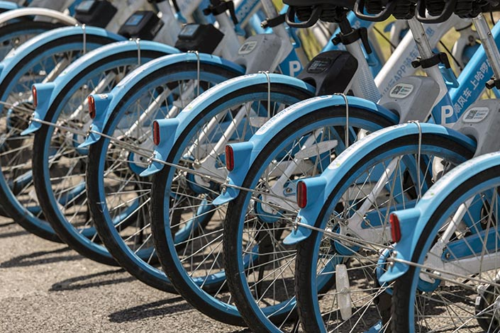 Chinese bike-sharing giant Hello has scrapped plans to list in the U.S. Photo: Bloomberg