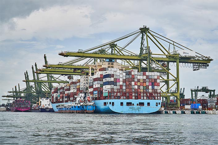 Rising global demand led by the U.S. and China has lifted the exports from Southeast Asia. Photo: VCG
