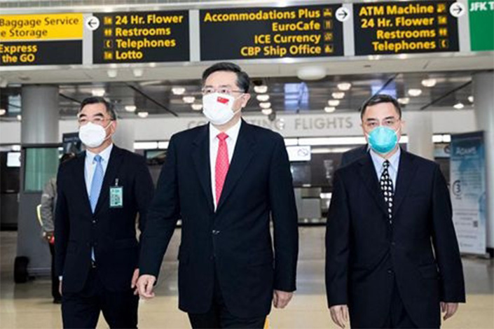 Qin Gang, China's new ambassador to the US, arrives in Washington on Wednesday local time. Photo: china-embassy.com