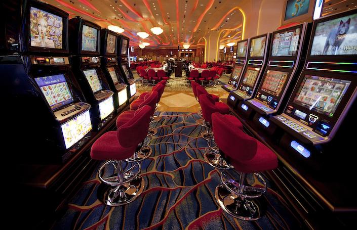 The casino in the Sheraton Macao Hotel in Macau.