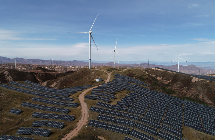 A wind and solar power plant in Zhangjiakou, North China's Hebei province, in October 2018. Photo: VCG
