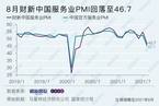 8月财新中国服务业PMI降至46.7 2020年5月以来首次收缩