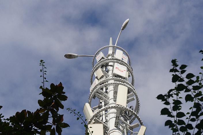 A 5G communication base station installed in Southwest China's Chongqing municipality on August 17. Photo: VCG