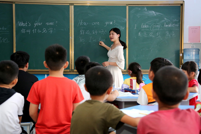 Students attend an English class in Zaozhuang, East china's Shandong province, in July 2018. Photo: VCG