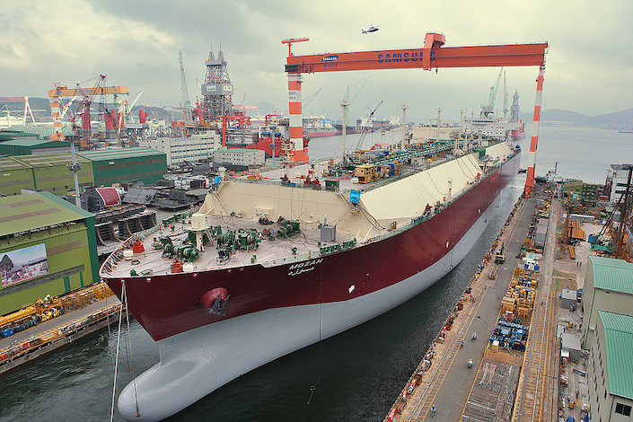 An LNG carrier built by Samsung Heavy Industries.